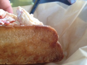 Blurry Bread Close-up - Lobster Roll - East Coast Joe's - Lone Tree Brewing - 8-15-13