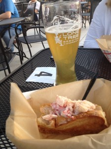 East Coast Joe's - Crab Melt - Lone Tree Brewing Peach Wheat - 8-15-13