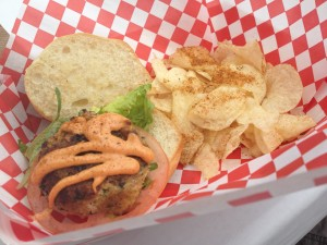 Petite Crab Cake Sandwich - Capt'n Crabby - Snack Attack - 8-24-13