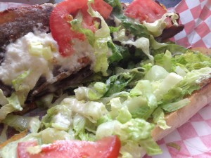 Close up of Mikes 2 Kitchen gyro opened