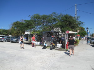 Garbo's Grill food cart located in Key West, FL on Greene Street near the old marina, end of Greene Street