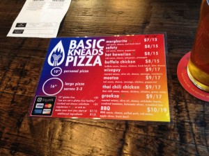 Basic Kneads Pizza - The Menu - March 22, 2014