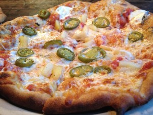 Hot Hawaiian - Jalapenos, Pineapple.  My favorite from tonight.