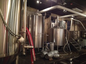 Brewery section of Station 26 Brewing Co.